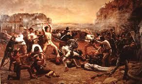 Alamo - Gen. Santa Anna (februarie 1836