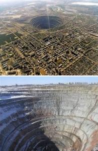 Mina de diamante Mirny, Siberia